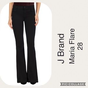 J Brand Maria Flare Jeans in Serious Black 6